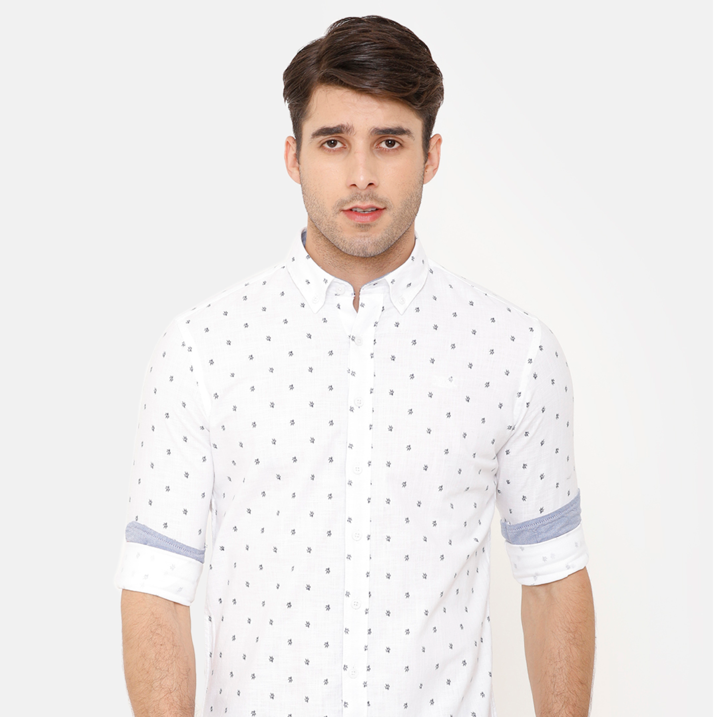 Bar Harbour White Printed Casual Shirt