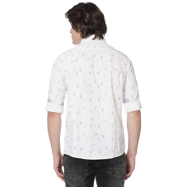 Bar Harbour White Penguin Print Casual Shirt