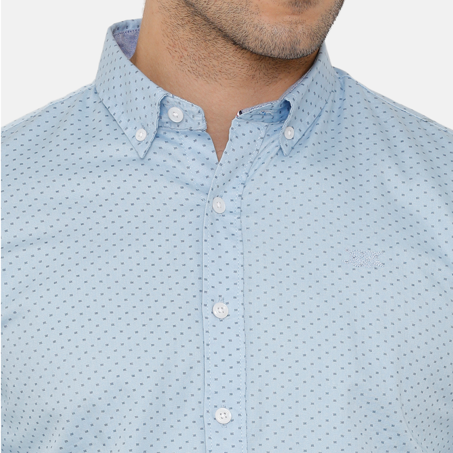 Bar Harbour Blue Printed Casual Shirt