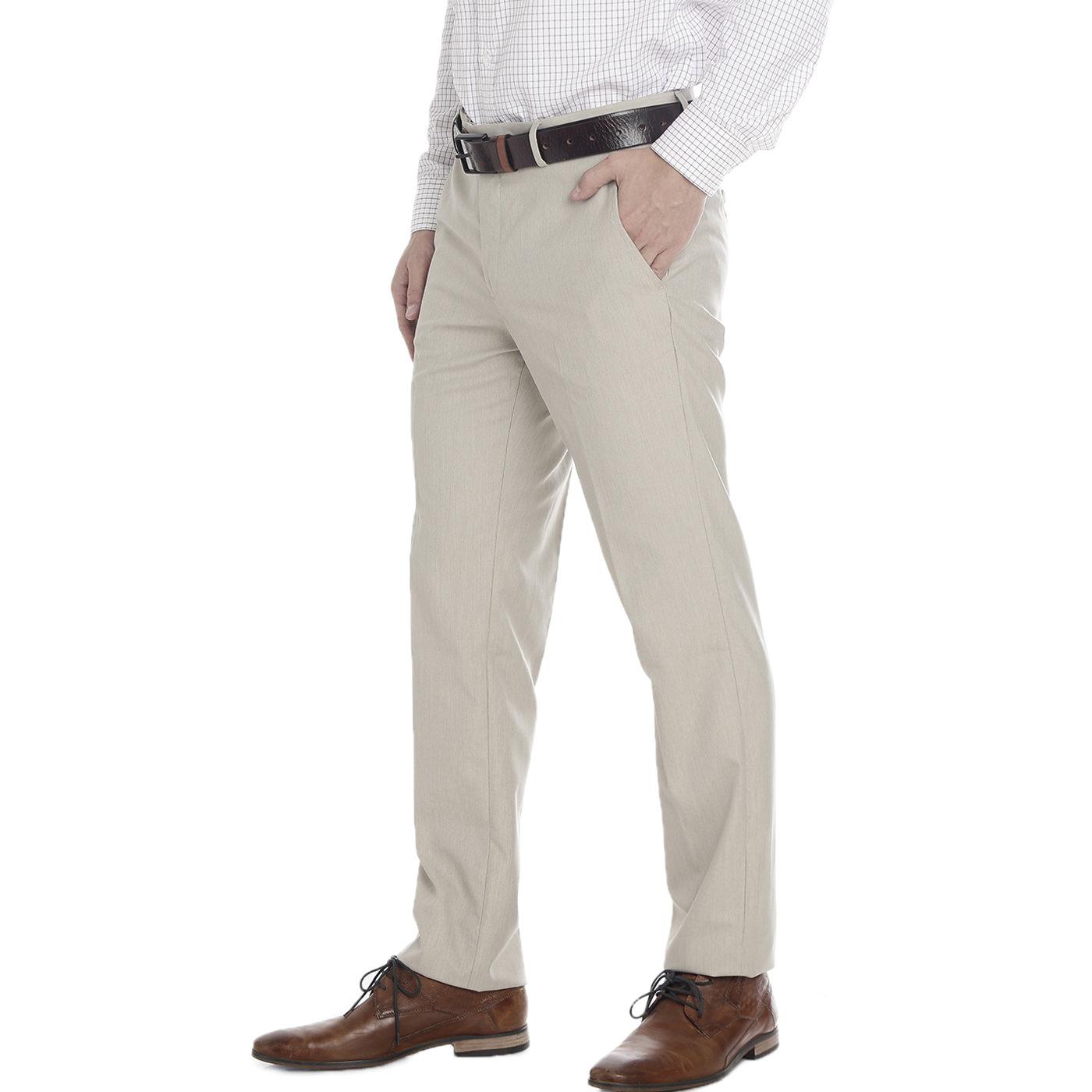 Double Two Slim Fit Men Beige Trousers