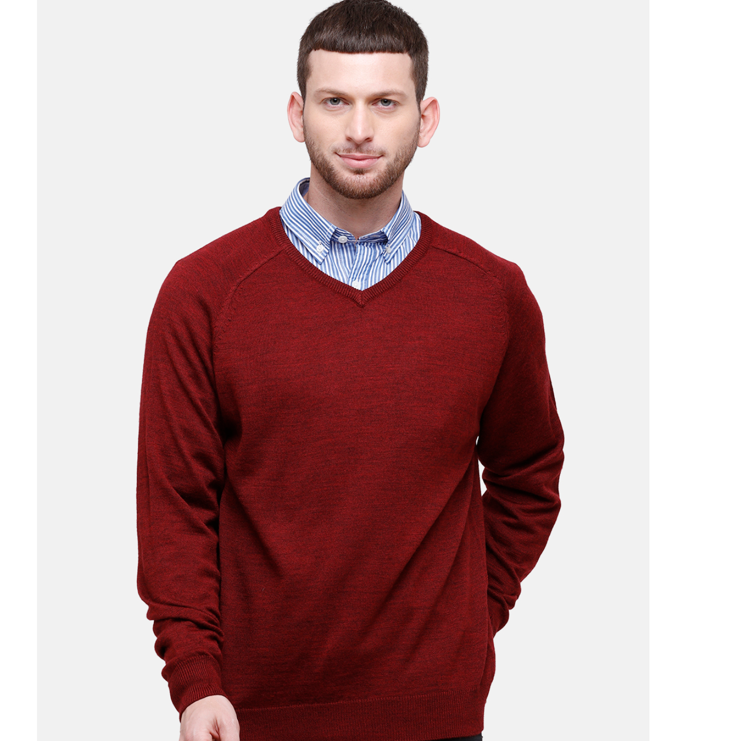 Wool Blend Red Sweater