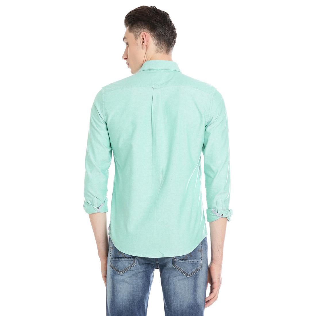 Bar Harbour Men Solid Casual Green Shirt