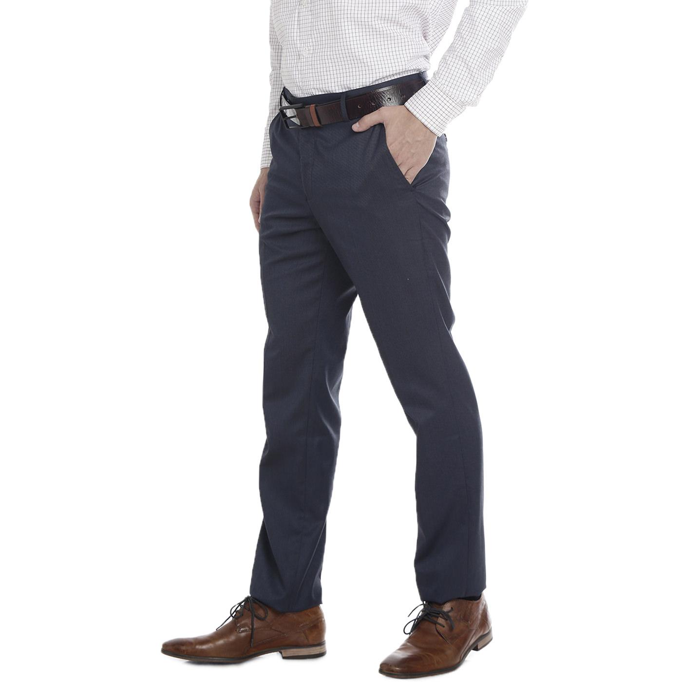 Double Two Slim Fit Men Black Trousers