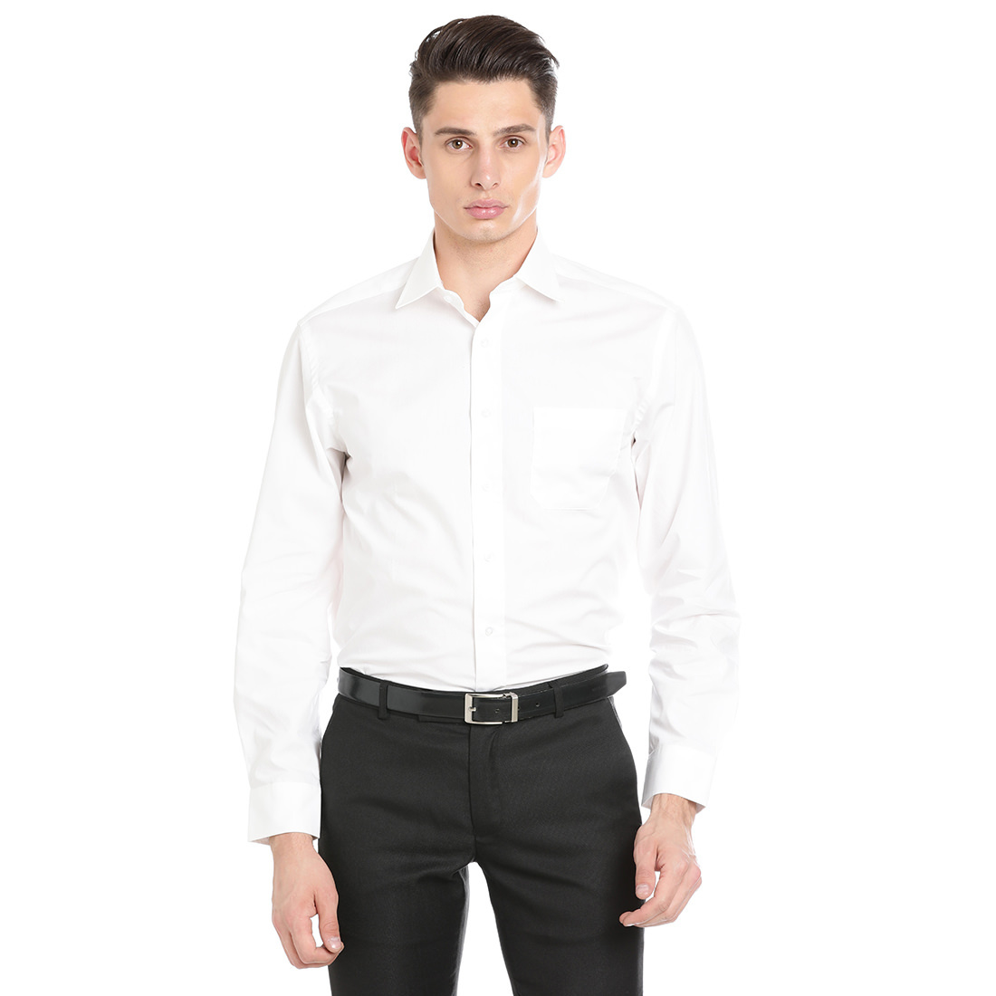 Paradigm White Color Formal Pure Cotton Non-Iron Shirt