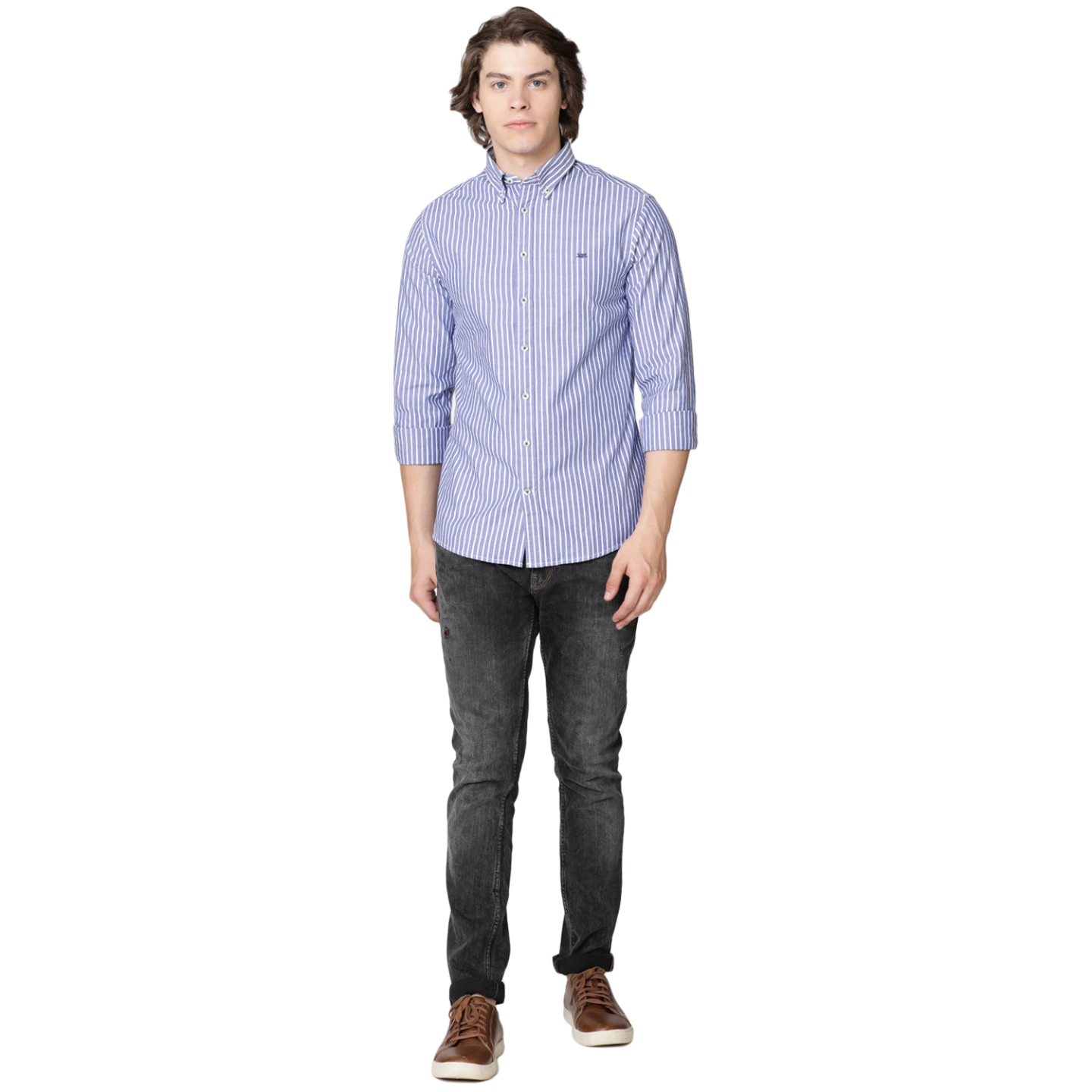 Bar Harbour Blue and White Stripe Casual Shirt
