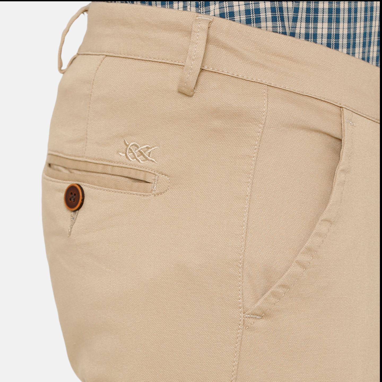 Bar Harbour Men Khaki Slim Fit Solid Chino Trousers