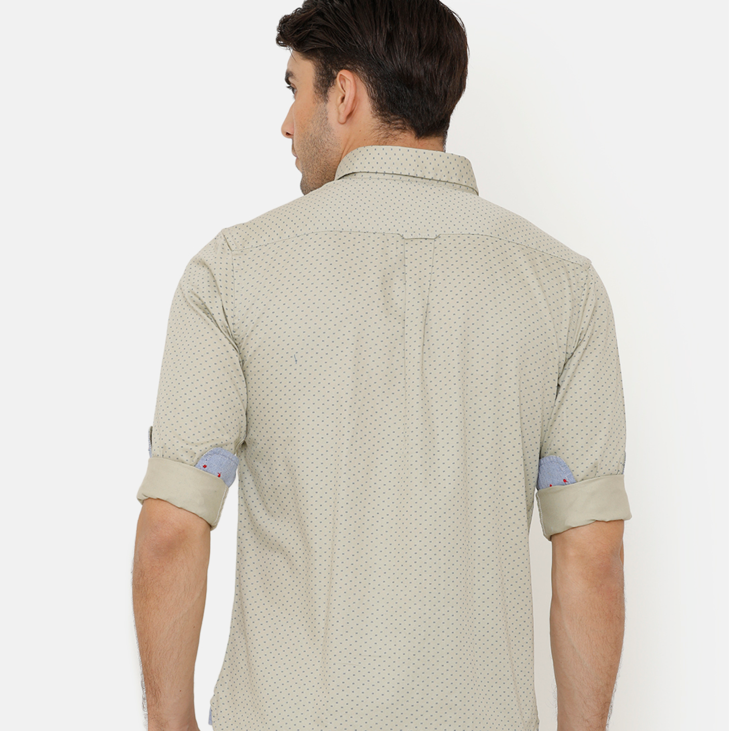 Bar Harbour Olive Printed Casual Shirt