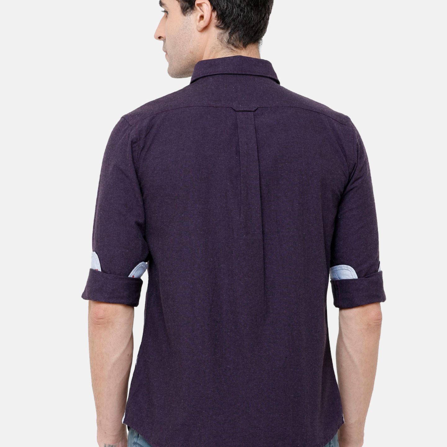 Double Two Mens Long Sleeves This Garment has been made with 70 cotton 30 polyester from recycled PET bottles & 100 eco-consciousness Casual Shirt