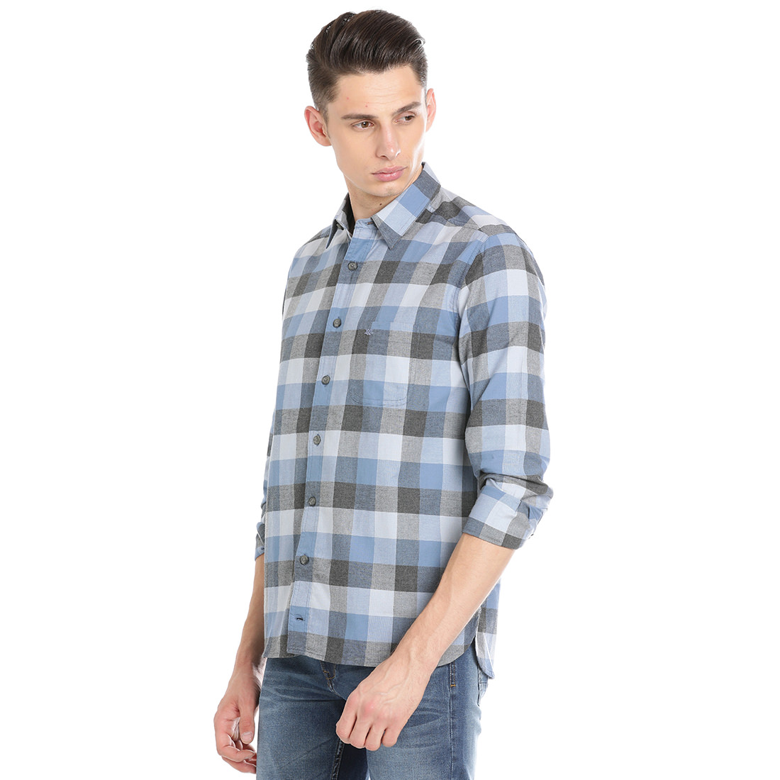 Bar Harbour  Men Checkered Casual Multi Color Shirt