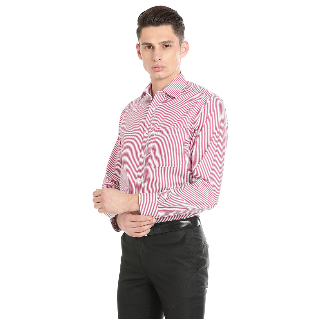 Paradigm Pink Color Formal Pure Cotton Non-Iron Shirt