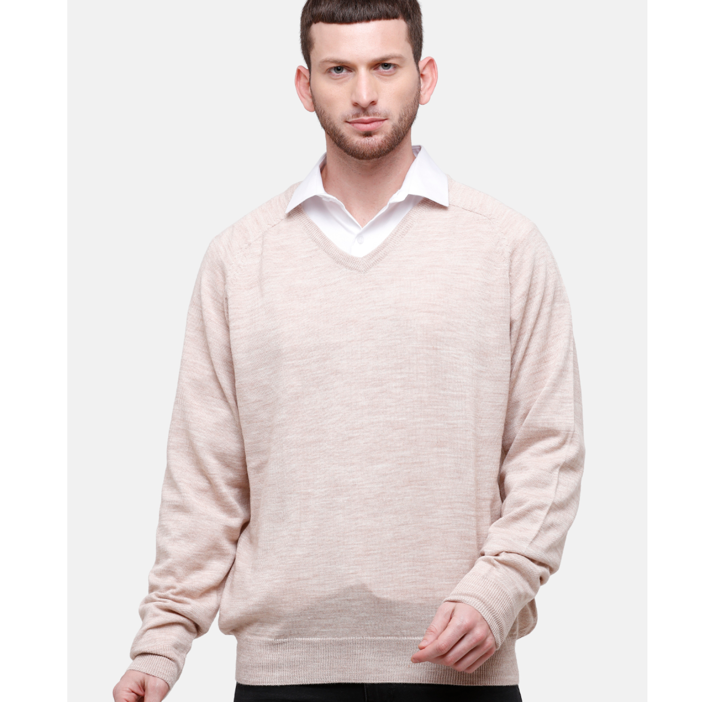 Wool Blend Beige Sweater