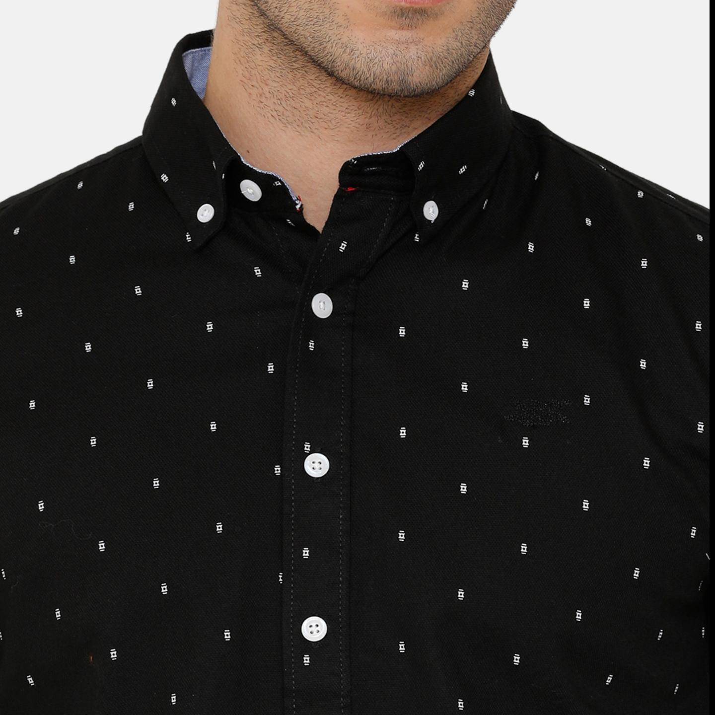 Bar Harbour Black Printed Casual Shirt