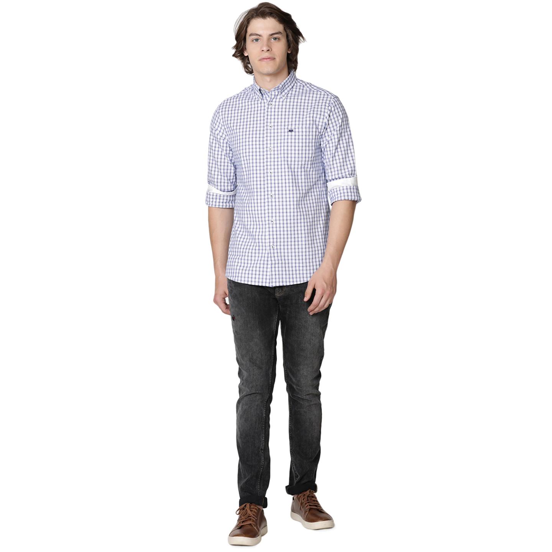 Bar Harbour Blue & White Eddie Oxford Check Casual Shirt