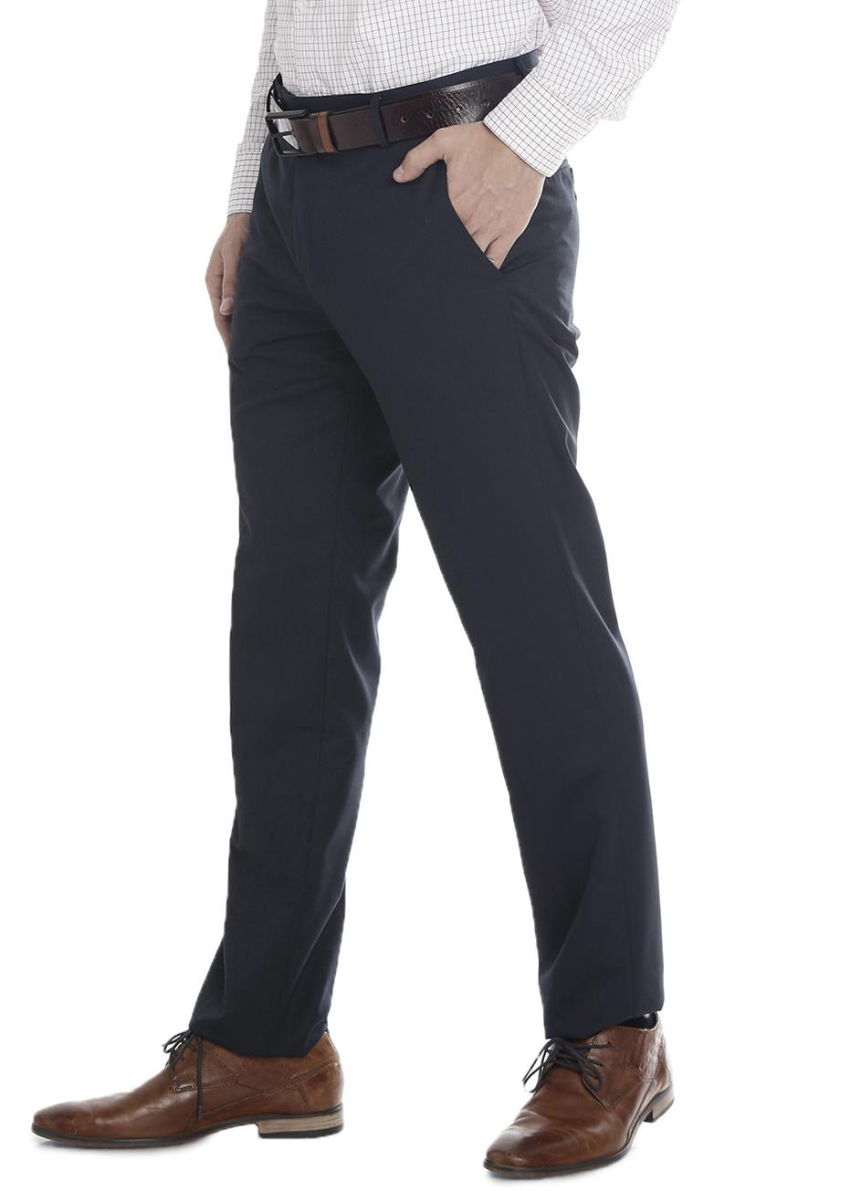 Double Two Slim Fit Men Navy Trousers