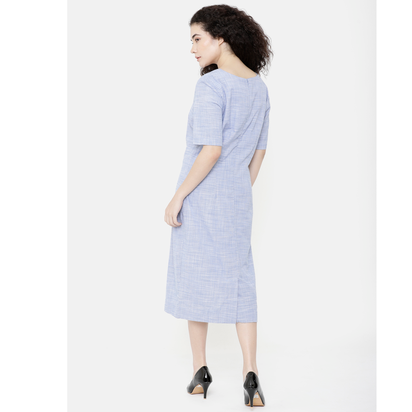 Double TWO Blue Solid Dress