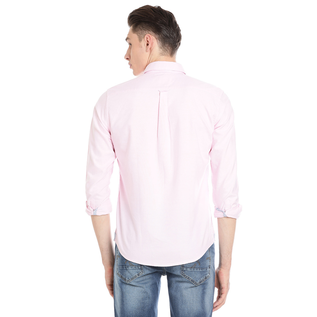 Bar Harbour Men Solid Casual Light Pink Shirt
