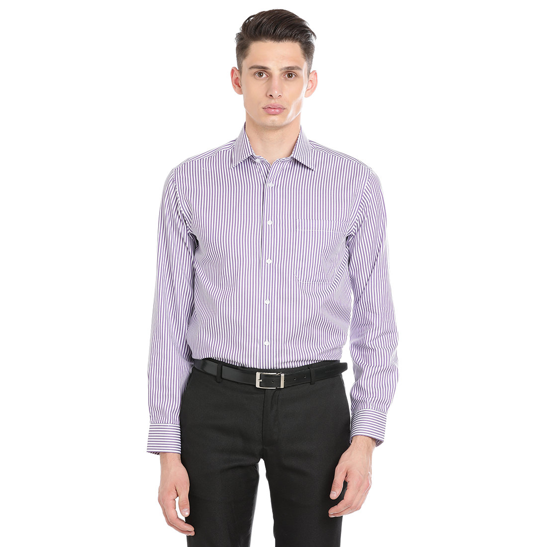Paradigm Purple Color Formal Pure Cotton Non-Iron Shirt