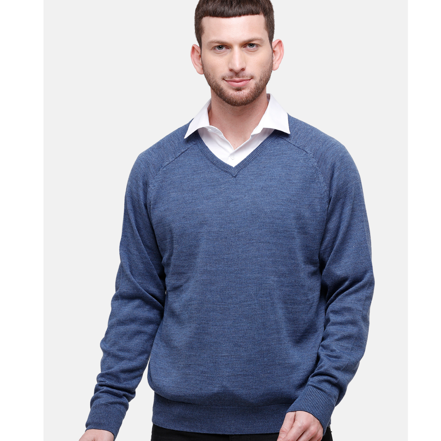 Wool Blend Blue Sweater