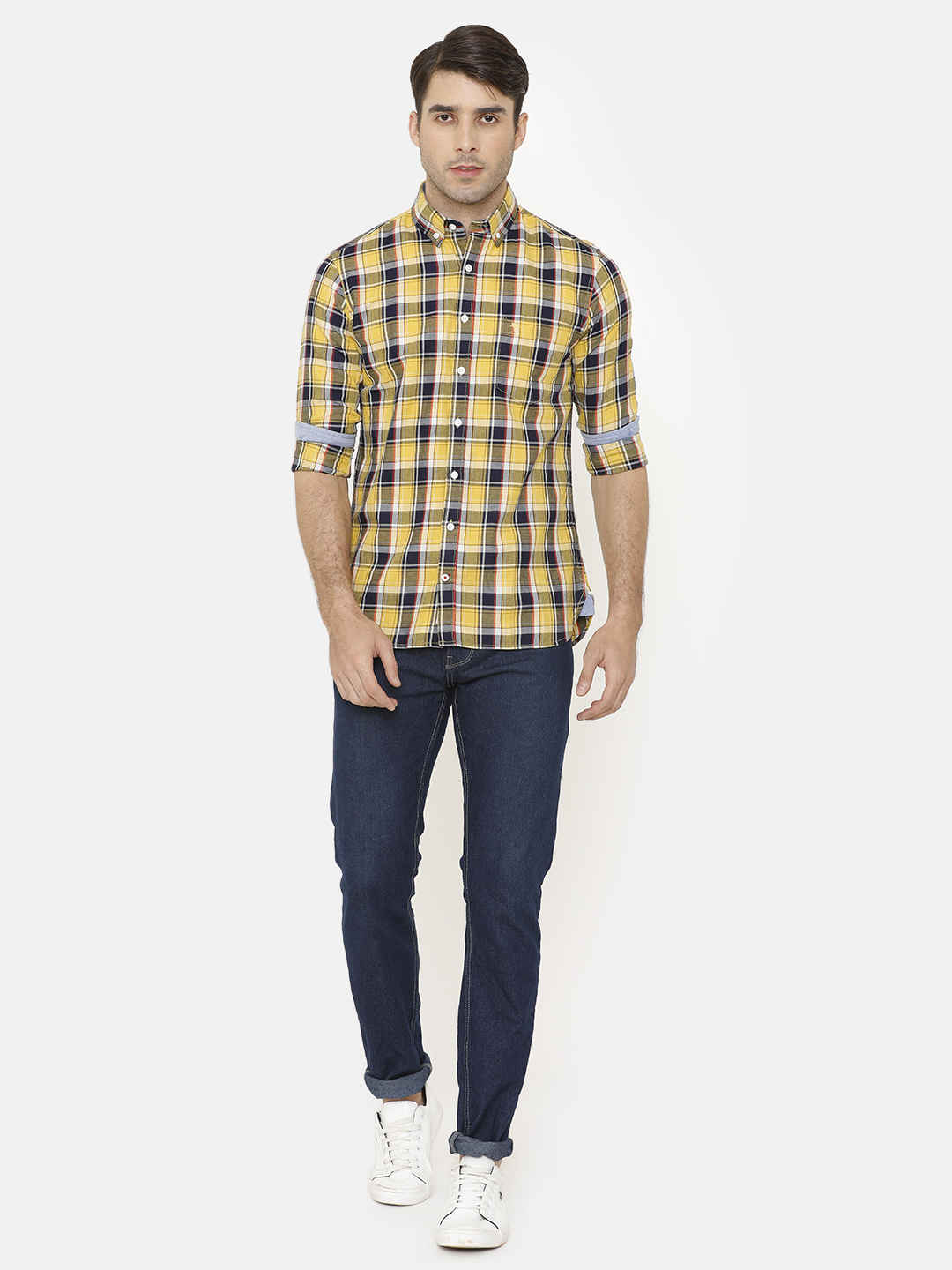 Bar Harbour Men Multicoloured Slim Fit Checked Casual Shirt