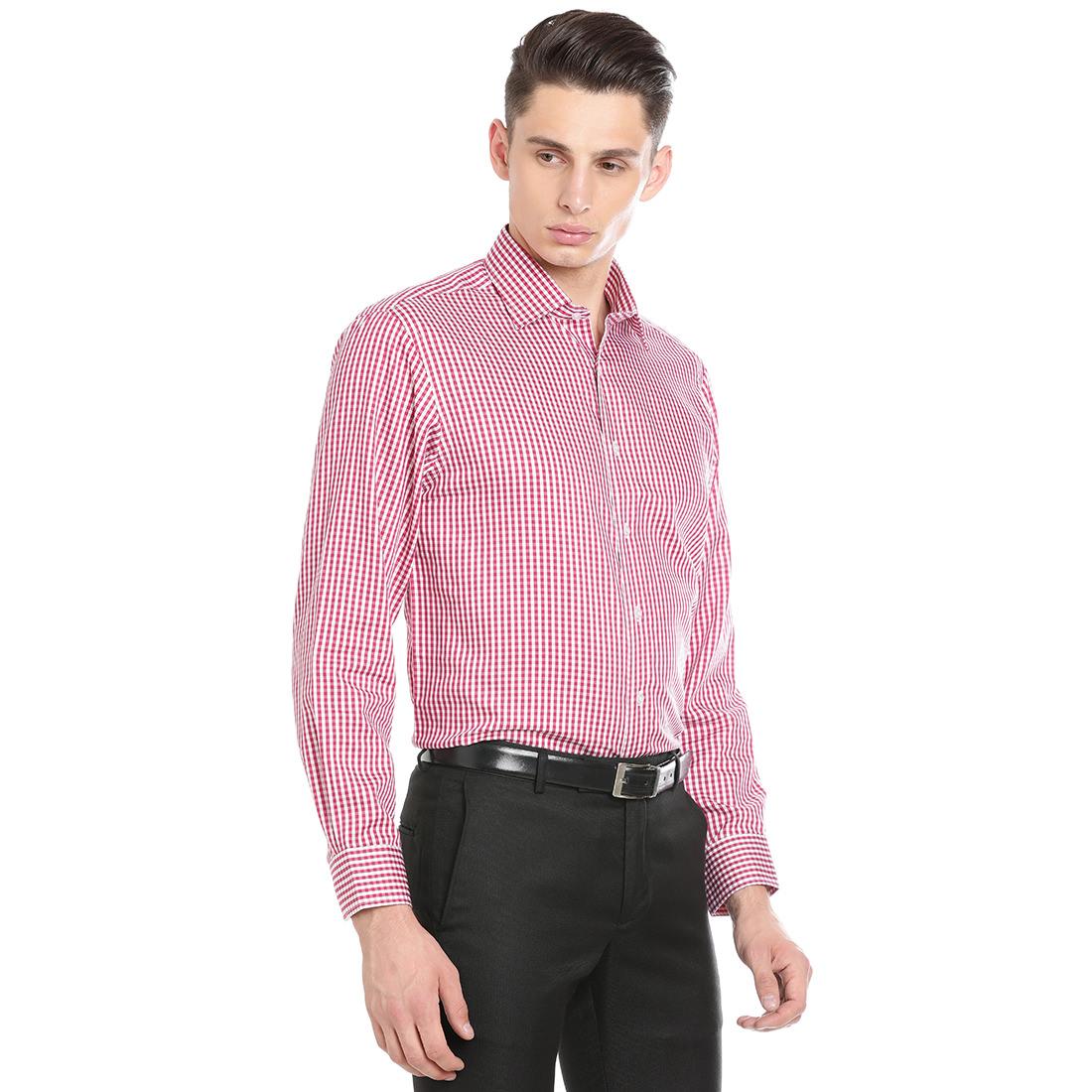 Paradigm Pink Color Formal Pure Cotton Non-Iron Shirt