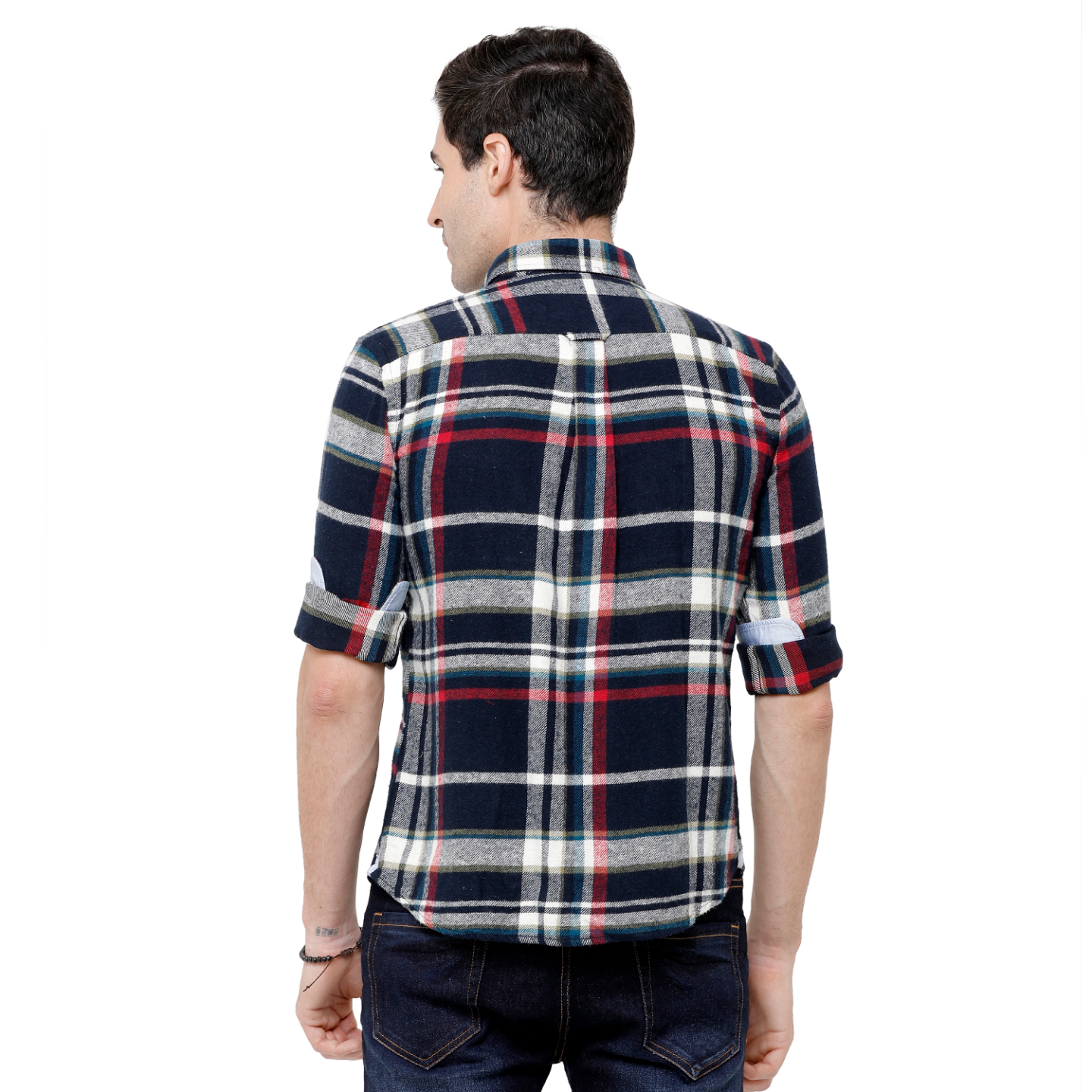 Double Two Mens Long Sleeves 100  Cotton Comfortable warm Flannel Shirt Casual Shirt