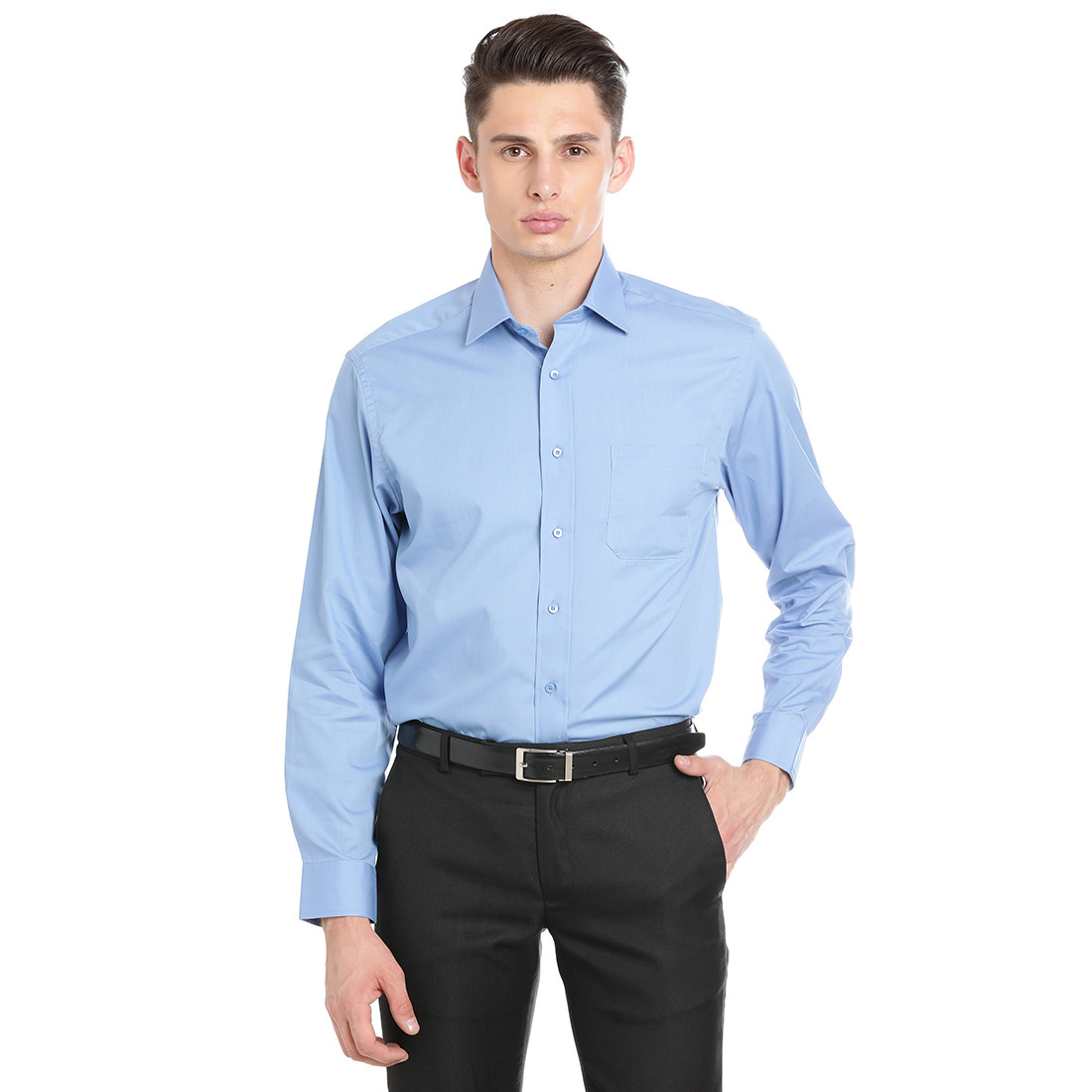 Paradigm Light Blue Color Formal Pure Cotton Non-Iron Shirt