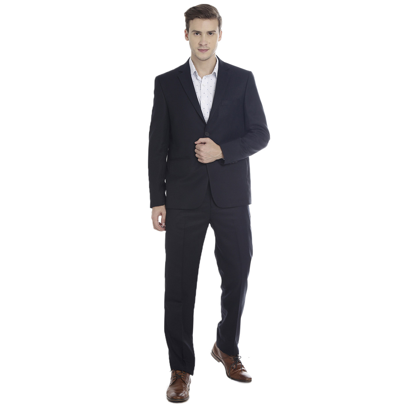 Double TWO Navy Slim Fit Men's Suit