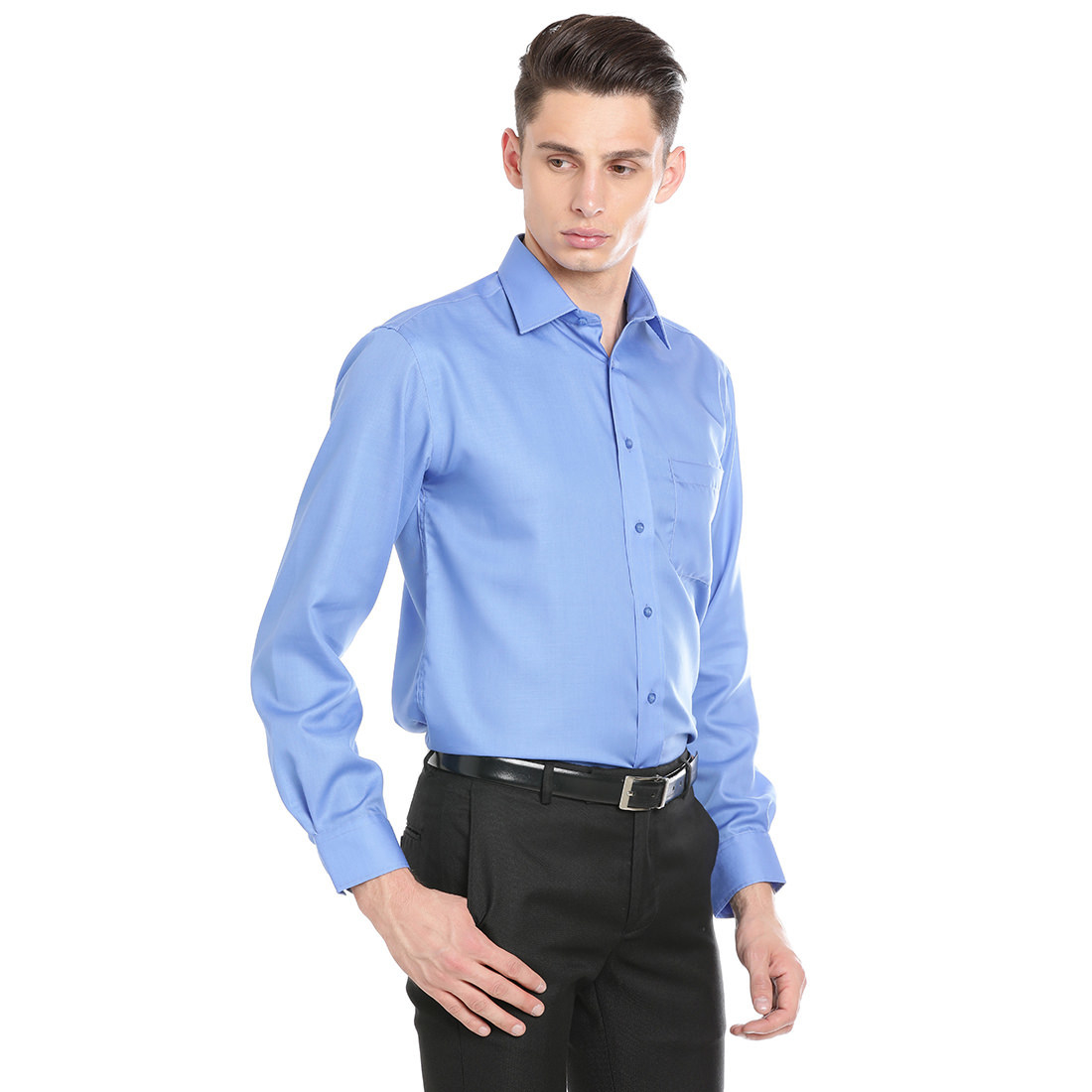 Paradigm Dark Blue Color Formal Pure Cotton Non-Iron Shirt