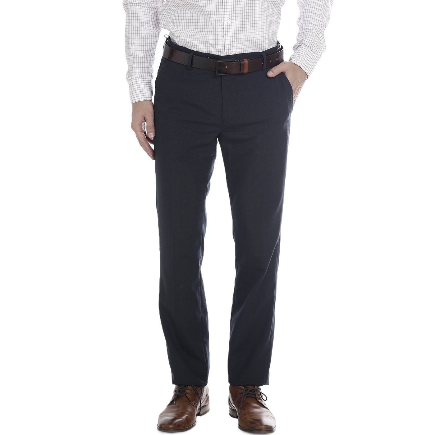 Double Two Slim Fit Men Dark Navy Trousers