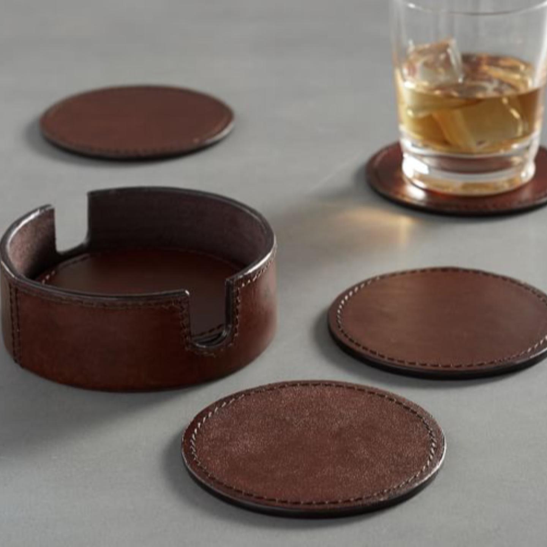Chamberlains Leather Coasters