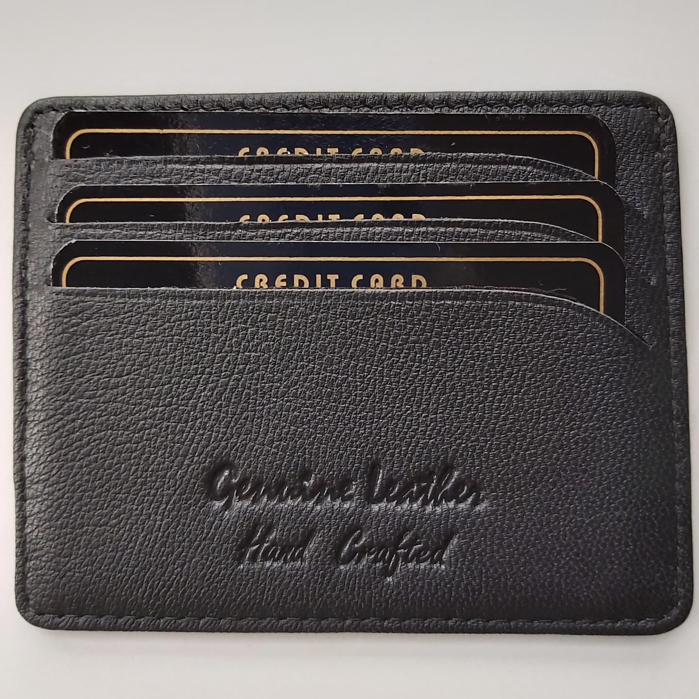Card Holder in Leather- Black
