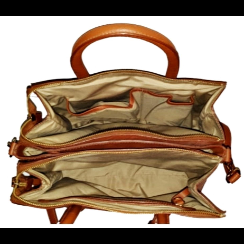 Kyoto Cognac Cross body Satchel Handbag