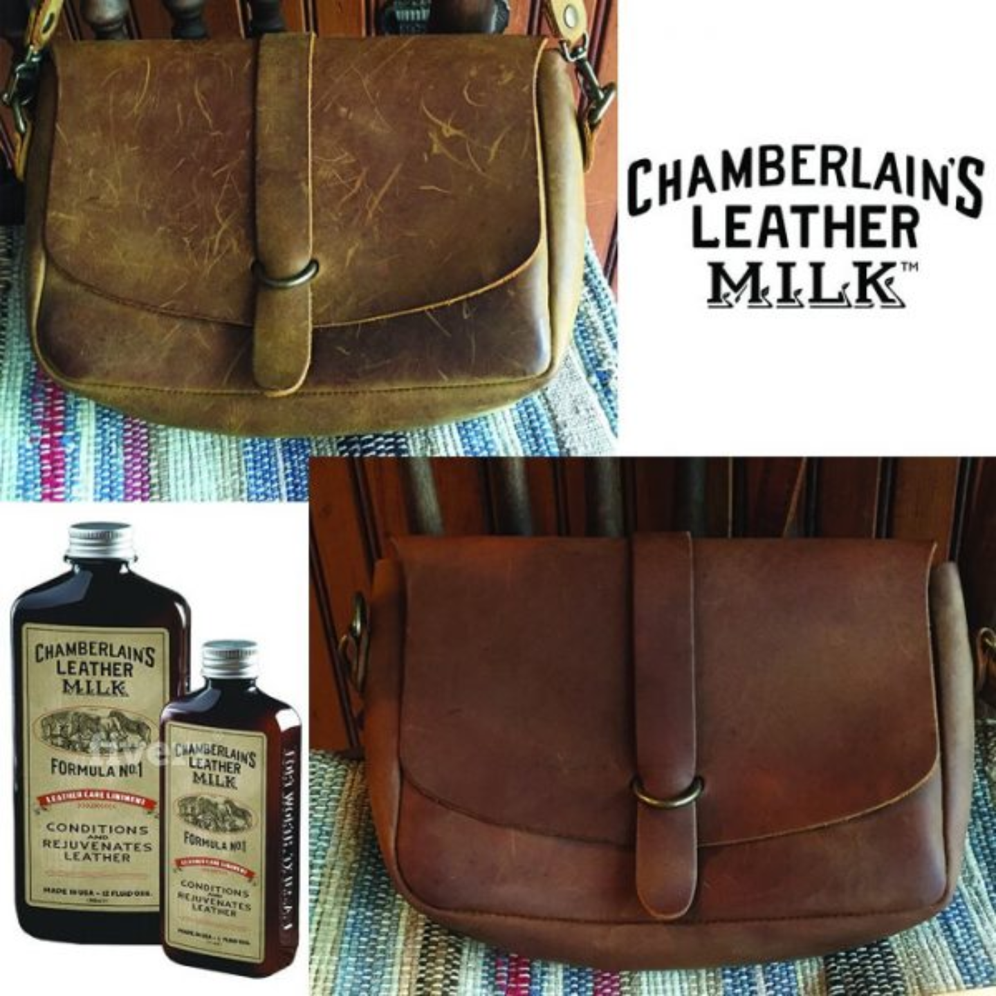 CHAMBERLAINS LEATHER MILK - LEATHER MILK CLEAN + CONDITION STOCKING STUFFER SET NO. 1 & NO. 2