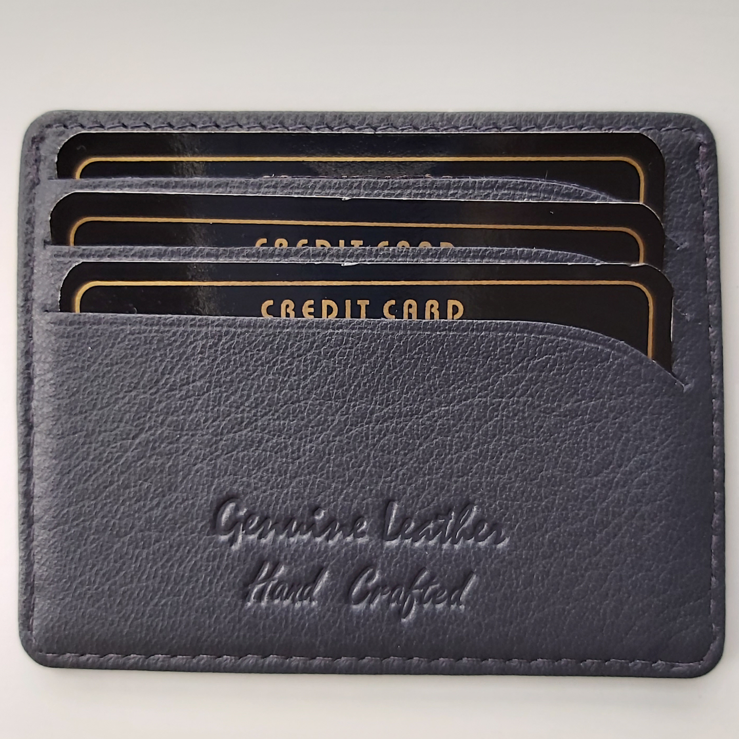 Card Holder in Leather- Navy