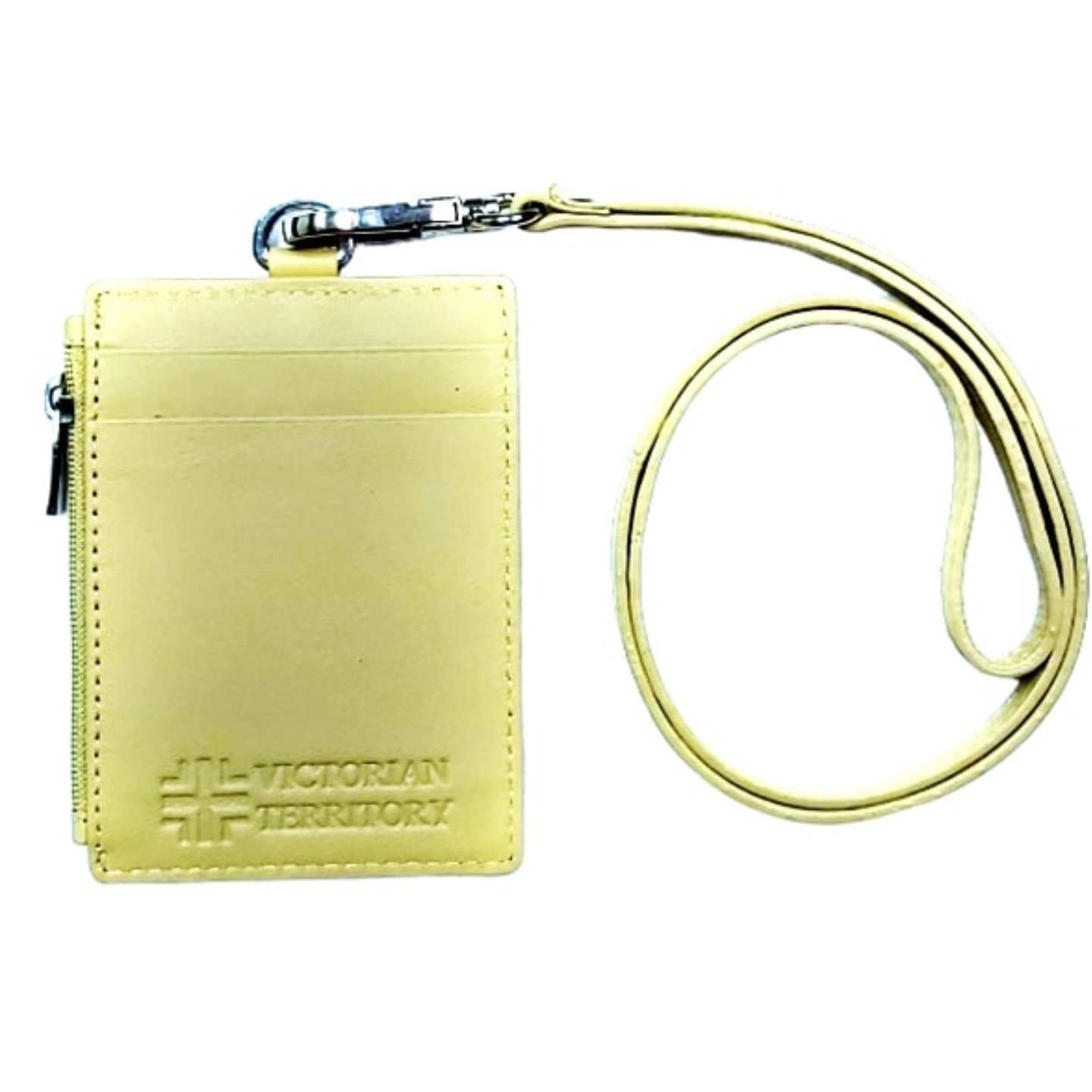 Omni ID , Card & Coin Holder with Lanyard , Col Beige
