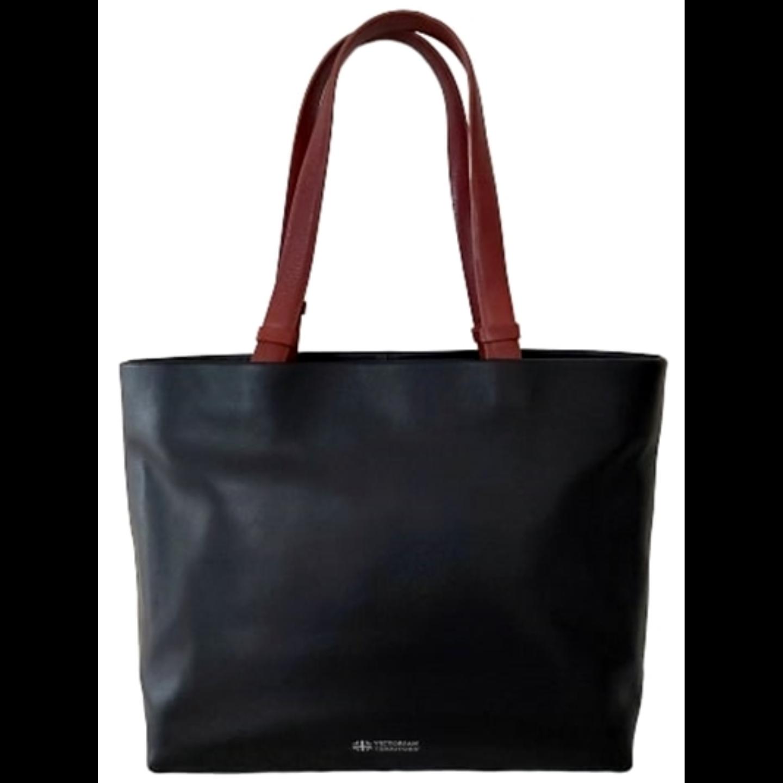 Sintra Premium Shopper Shoulder Bag Black & Brown
