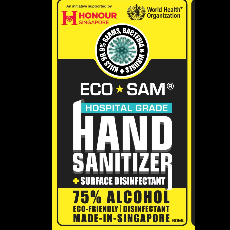 Sanitizer + Surface Cleaner 60ml Spray Value Set  4 bottles of 60 ml each