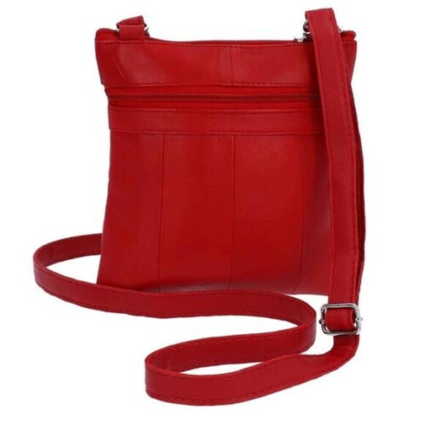 Mini Sling & Crossbody Style Leather Bag - 1027 Red