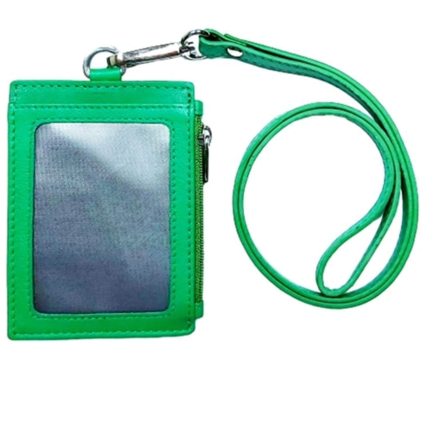 Omni ID , Card & Coin Holder with Lanyard , Col Green