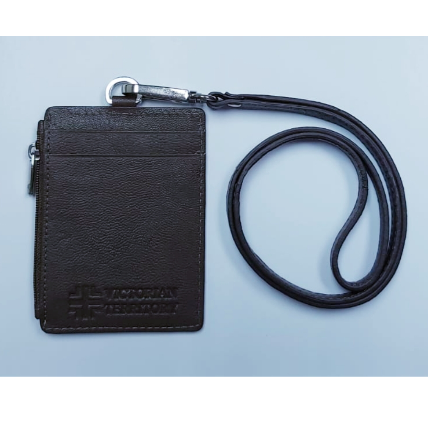Omni ID , Card & Coin Holder with Lanyard , Col Brown