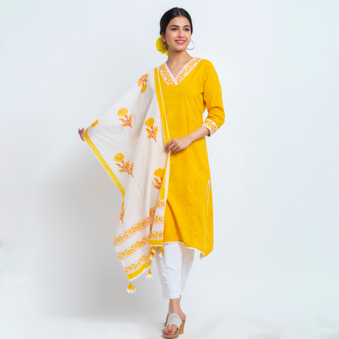 Naksh casual kurti with stole