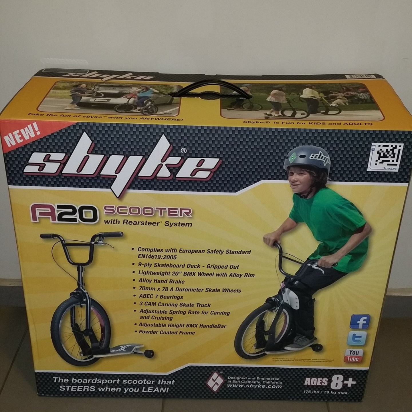 Sbyke kick scooter model A20 7 years old onwards