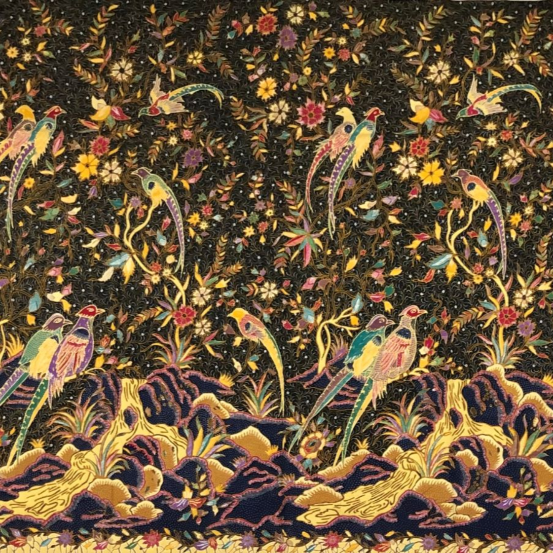 Black Beauty  Fine hand drawn batik