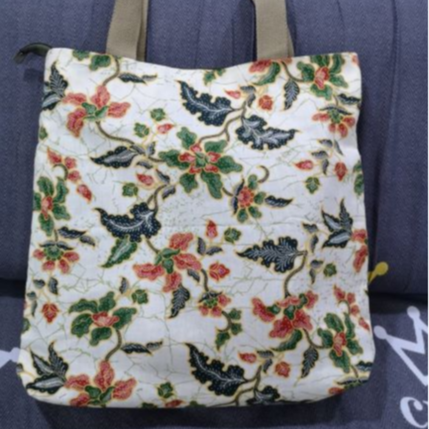 Batik contemporary tote bag
