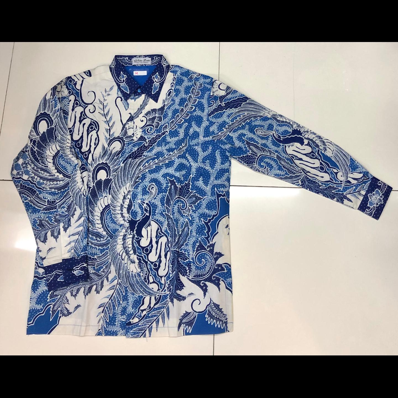 Hand drawn batik long sleeve shirt  M size