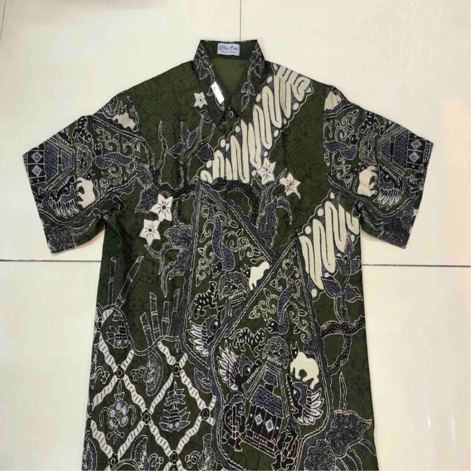 hand drawn batik shirt  hand woven silk