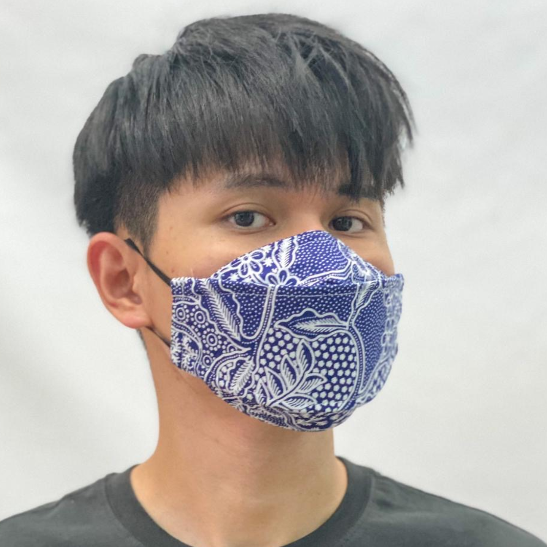 Batik print 3D cloth masks  KF 94 shape-like mask