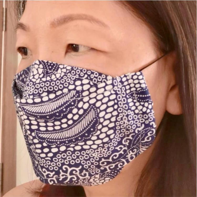 Batik print 3D cloth masks