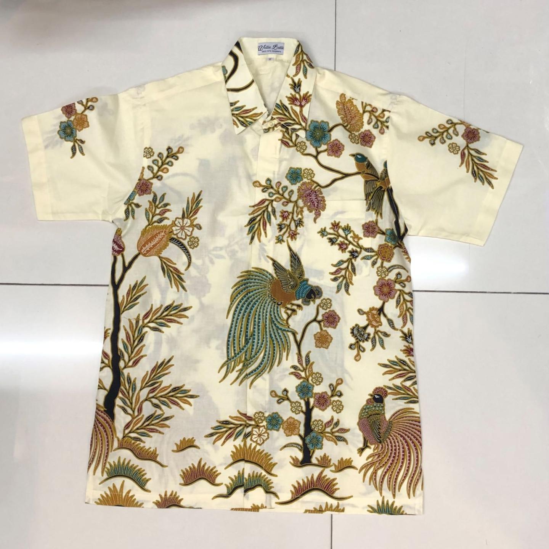 Batik print short sleeve shirts ( size XL )