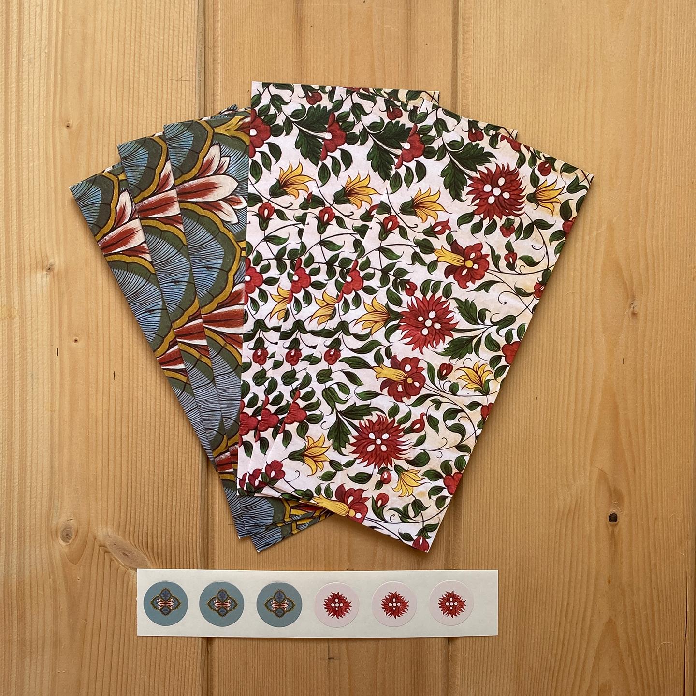 Gift Envelopes set of 6 - Murals